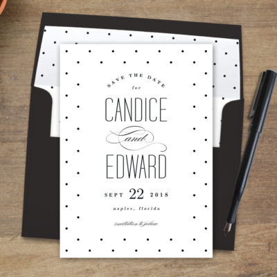 Printable Modern Save The Date Card