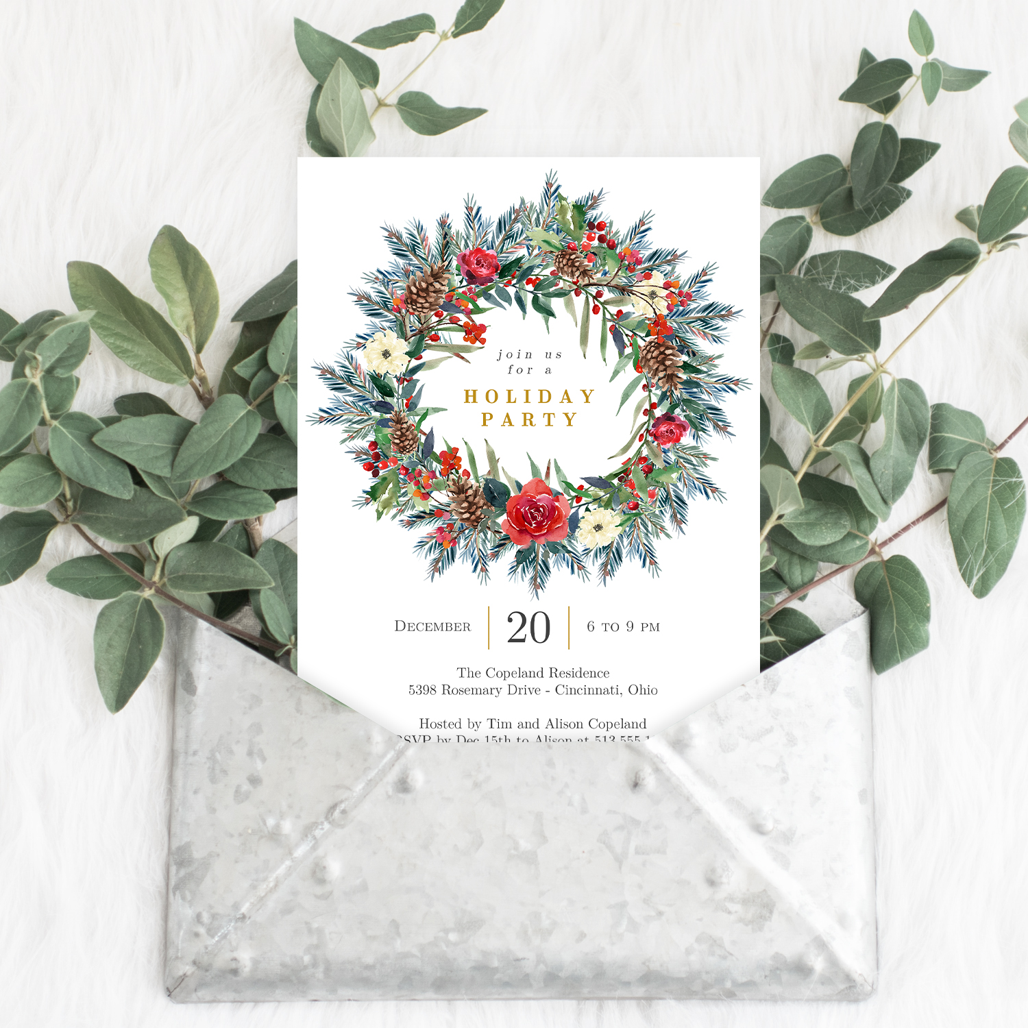 Holiday Invite Template from www.berryberrysweet.com