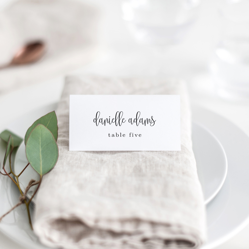 photo about Printable Place Cards referred to as Stunning Calligraphy Level Playing cards #LCC