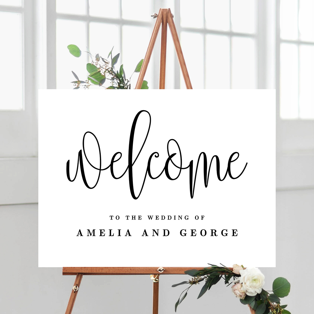 Lovely Calligraphy Wedding Welcome Sign #LCC - Berry Berry ...