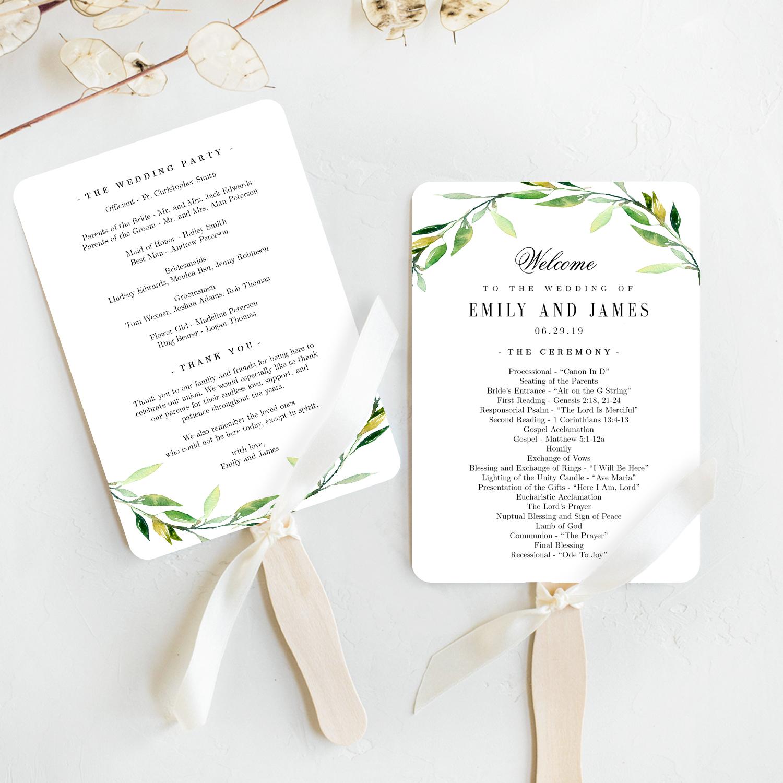 Program Wedding Template from www.berryberrysweet.com