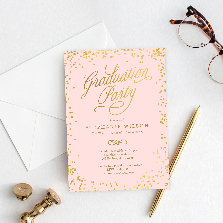 Graduation Invitation Template Editable